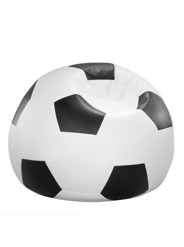 Linke Licardo Fußball-Sitzball Kunstleder in schwarz/weiß
