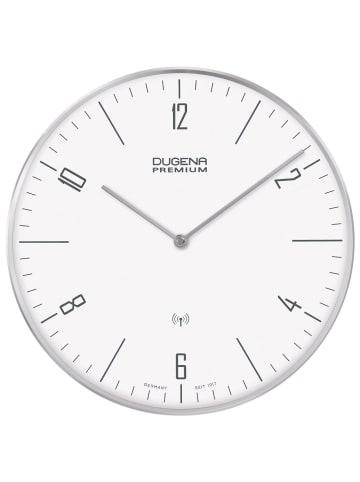 Dugena Premium  Dessau Funkwanduhr Weiß / Silber