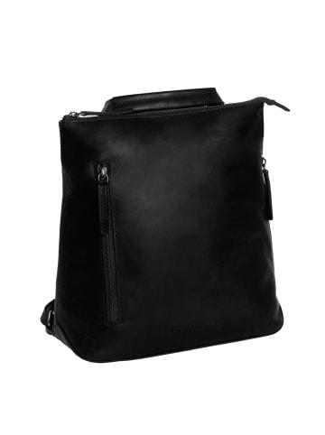 The Chesterfield Brand Wax Pull Up Elise City Rucksack Leder 26 cm in schwarz
