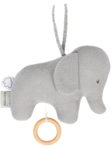 Nattou Spieluhr Strick - laufender Elefant, grau