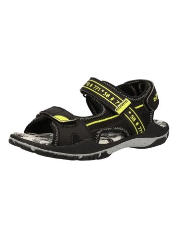 Richter Shoes Sandalen in Schwarz/Gelb
