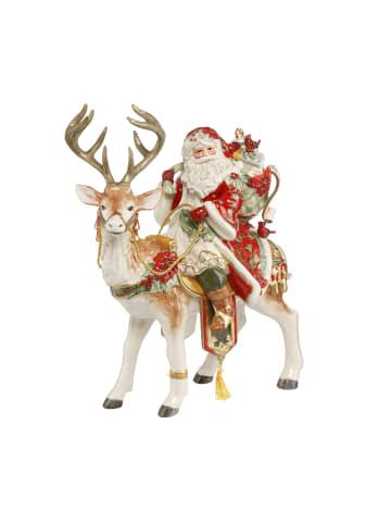 """Fitz&Floyd Figur """" Santa auf Hirsch """" in Bunt"""
