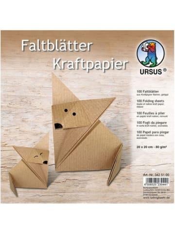 URSUS Faltblätter Kraftpapier 20 x 20 cm