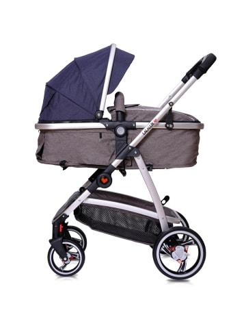 "Lalalux Kinderwagen "" Babyboomer "" in blau/dunkelgrau"