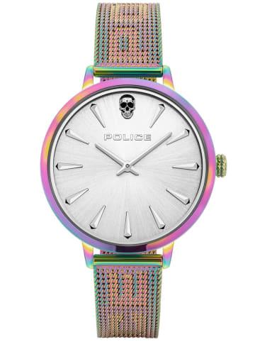 Police Damen-Armbanduhr Miona Silber / Mehrfarbig