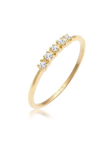 Elli Ring 375 Gelbgold Edelstein Ring, Verlobungsring in Gold