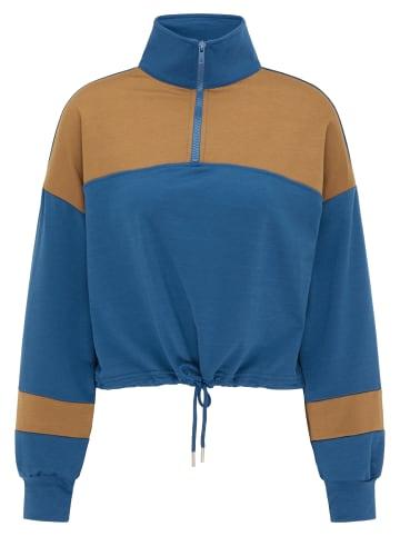 MyMO ATHLSR Pullover in Blau Moos