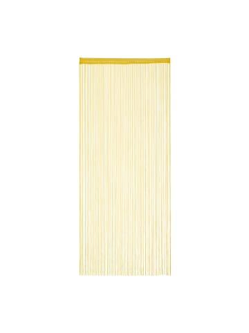 Relaxdays Fadenvorhang in Gold - (L)245 x (B)90 cm