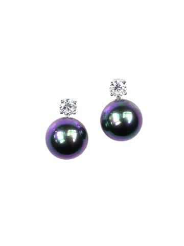 Perlas Orquidea  Perlenohrringe Hermione Black Earrings in schwarz