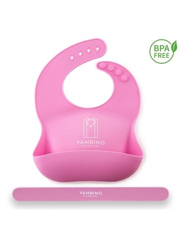 YAMBINO 1er Set: Babylätzchen mit Haltegurt in Rosa