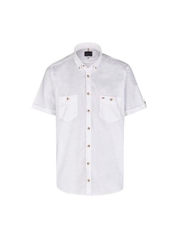 JUPITER Kurzarmhemd in uni weiß