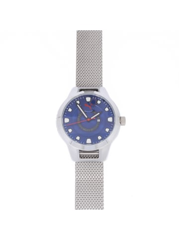 """Puma Time Herrenuhr """"Puma P5005"""" in silber und blau"""