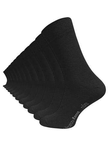 Vincenzo Rosso 12 Paar Herren Business-Socken in Schwarz
