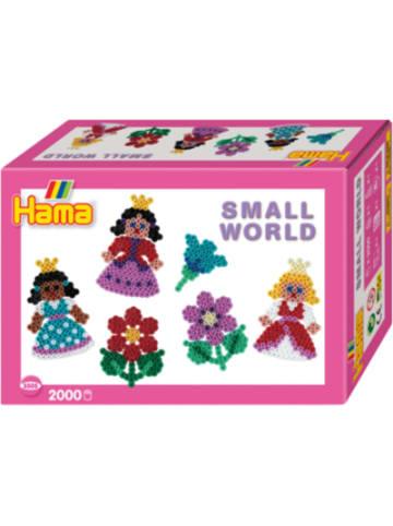 Hama Bügelperlen HAMA 3505 Kleine Welt Blume & Prinzessin, 2.000 midi-Perlen & Zubehör