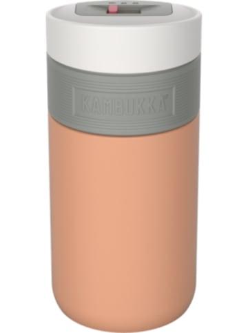 KAMBUKKA® Edelstahl-Isolierbecher ETNA 3 in 1 Snapclean® Cantaloupe, 300 ml