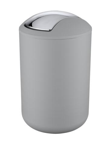 Wenko Kosmetikeimer Brasil Grau L, 6,5 Liter in Grau