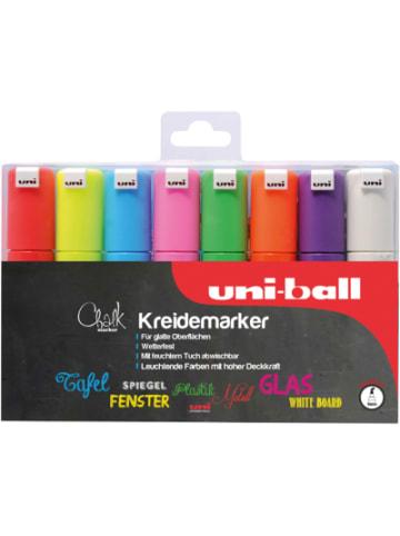 Uni-ball UNI Chalk Kreidemarker 8 mm, 8 Farben