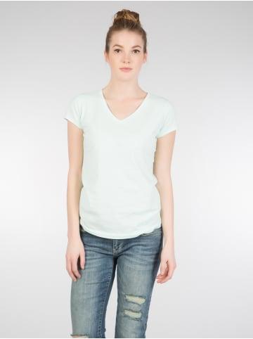 Colin's Colin's COLINS Basic Shirt Basic Form mit V-Ausschnitt in mint