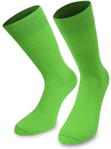 Normani 1 Paar Socken Bi-Color in Apfelgrün/Moosgrün