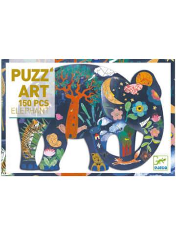 Djeco Kunstpuzzle Elefant, 150 Teile