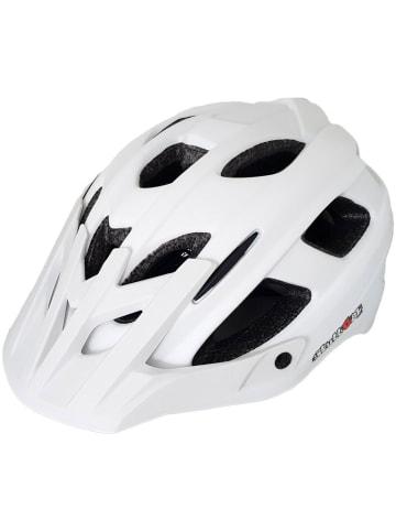 SkullCap MTB Fahrradhelm matt mit Visier u. Helmschild in weiß
