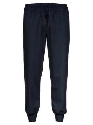 Ammann Schlafanzug-Hose mit Bündchen lang Organic Cotton - Mix & Match in Dunkelblau