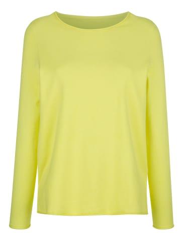 Dress In Pullover in Neongelb