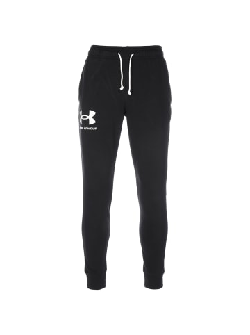 Under Armour Trainingshose Rival Terry in schwarz / weiß