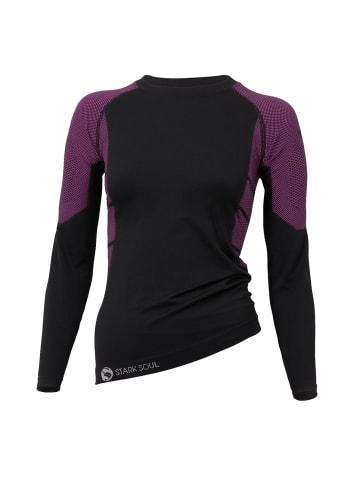 Stark Soul® Skiunterwäsche - Hemd Langarm Funktionswäsche in schwarz-pink