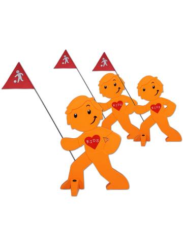 StreetBuddy StreetBuddy  Warnfigur für Kindersicherheit in Orange, 3-er Pack