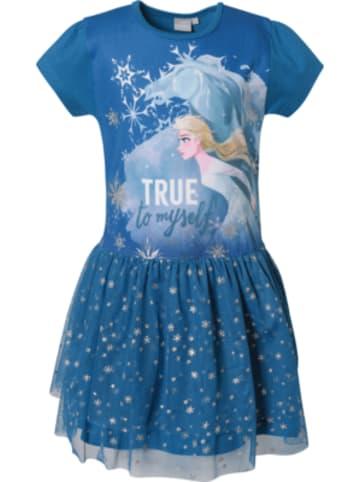 Disney Die Eiskönigin Disney Die Eiskönigin Kinder Jerseykleid mit Tüllrock und Glitzerdetails