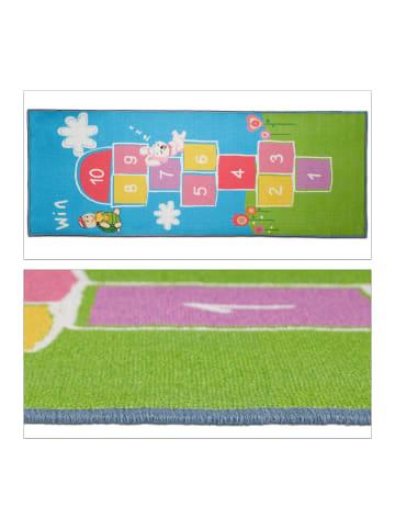 Relaxdays Kinderteppich Hüpfspiel in Bunt - (B)180 x (T)70 cm