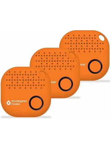 """Musegear Bluetooth-Schlüsselfinder """"Finder 2"""" in orange - 3er Pack"""