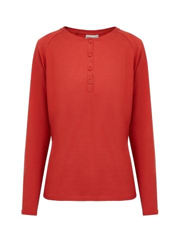 Finn Flare Basic-Shirt in red-brown