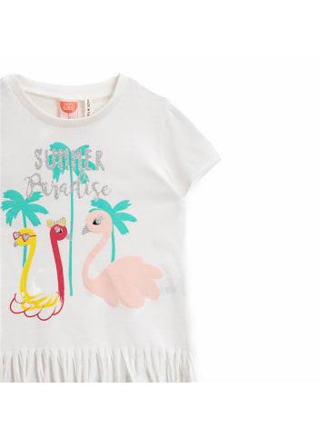 Mamino Kindermode Mädchen T-Shirt -Paradise in weiss