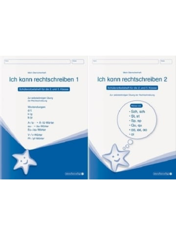 Sternchenverlag Ich kann rechtschreiben - Schüler-Arbeitshefte für die 2. und 3. Klasse, 2 Tle.. H.1+2