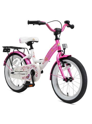 """BIKESTAR Kinder Fahrrad """"Classic"""" in Pink Weiß - 16 Zoll"""