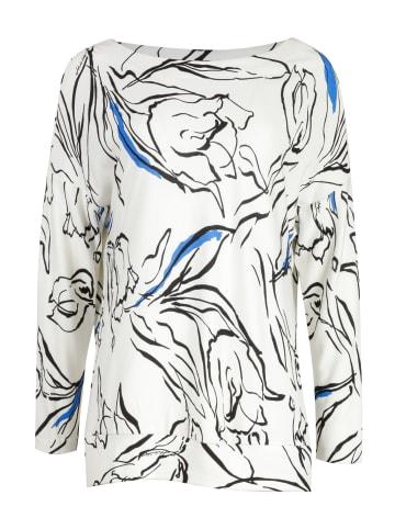 HELMIDGE Langarmbluse Bluse in weiss