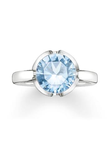 "Thomas Sabo Ring ""TR2036-009-31"" in silber und blau"