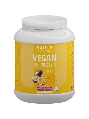 Nutri+ Pulver Vegan 3K Proteinpulver (1000g) in Mango-Maracuja