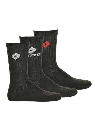 Lotto Socken 3er Pack in Schwarz