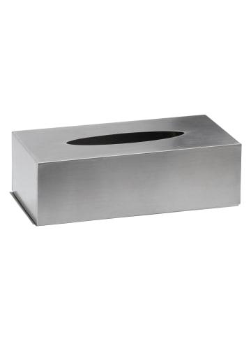 AMARE Kosmetiktücherbox aus Edelstahl in Silber