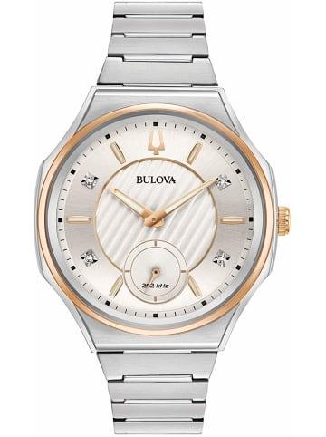 Bulova Analog Uhr 'Curv' in Silber/Silber