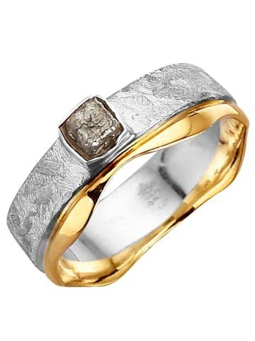 Diemer Atelier Damenring mit Rohdiamant in Grau