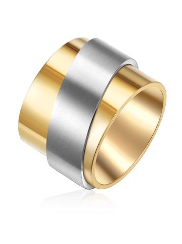 Rafaela Donata Ring Edelstahl in Gelbgold / Silber in gelbgold/silber