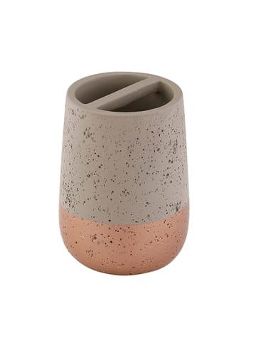"Axentia Zahnbürstenhalter ""Concrete"" in grau/ roségold"