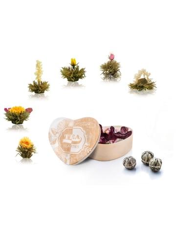 Creano Herz-Holzbox + 6er ErblühTee Weißtee