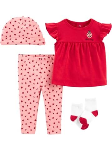 Carter's Baby 4-teilig Set Top+Softbundhosen+Mütze+Socken