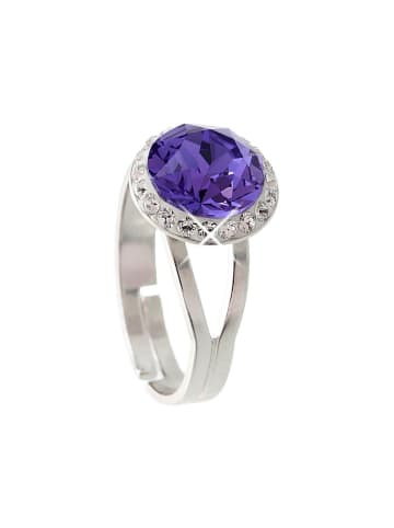 """Exclusive Edition  Ring """"Diamond Pave'"""" mit Swarovski Kristallen in Tanzanite"""