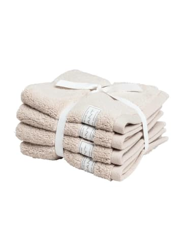 Gant Handtuch 4er Pack in Beige